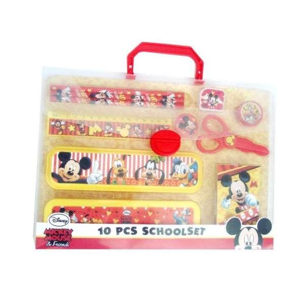 Disney Schreibset Mickey Mouse mit Stiften, Box, Radiergummi, uvm.