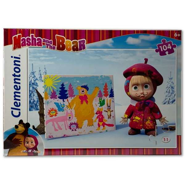 Clementoni Masha and the Bear Puzzle 104 Teile Super Color Mascha und der Bär 1