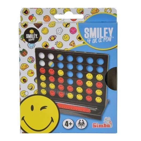 Reisespiel Smiley vier in einer Reihe Strategiespiel