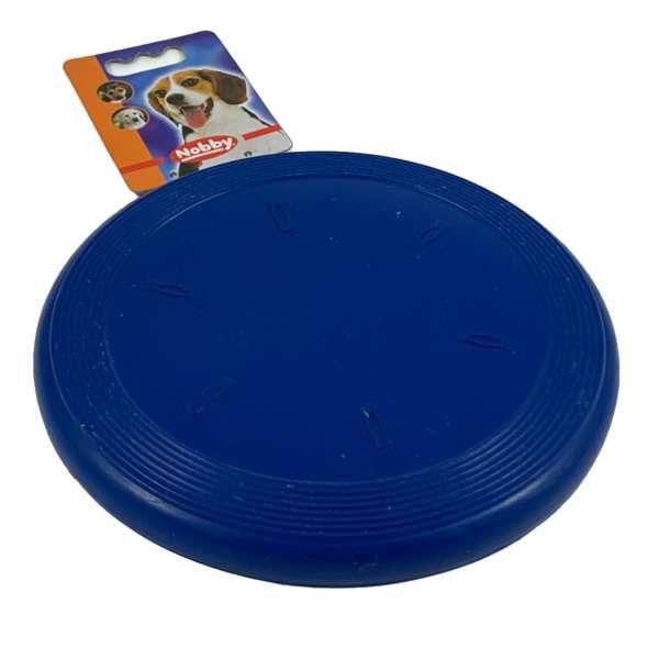 Nobby Frisbee aus Gummi für den Hund Hundespielzeug Blau
