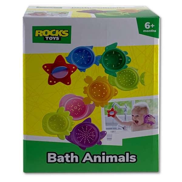 8 Badetiere Badespaß für die Badewanne, Strand und Planschbecken Badespielzeug
