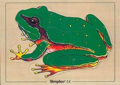 SIMPLEX Holzpuzzle - 7 Teile - Motiv: Frosch 30 x 21 cm