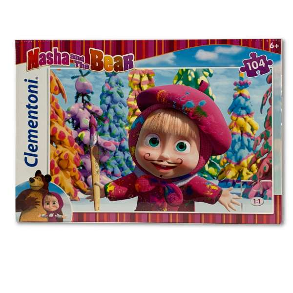 Clementoni Masha and the Bear Puzzle 104 Teile Super Color Mascha und der Bär 2