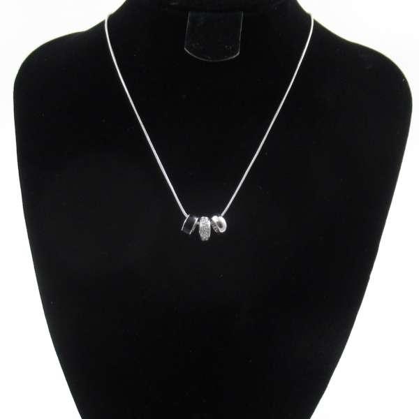 Liora Tri Ring Halskette mit Swarovski Elementen