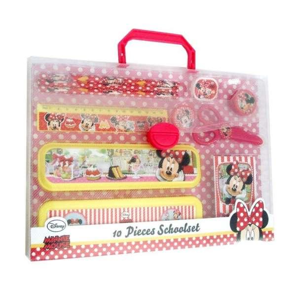 Disney Schreibset Minnie Mouse mit Stiften, Box, Radiergummi, uvm.