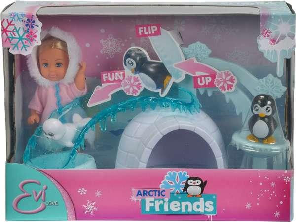 Evi Love Puppe im Winteroutfit und ihre arktischen Freunden