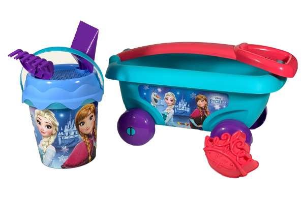 Smoby Frozen Handwagen mit Eimergarnitur Set2