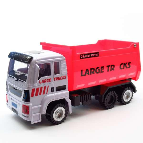 Baustellenfahrzeug Laster mit Licht, Sound und Friktionsantrieb, LKW, Kipper