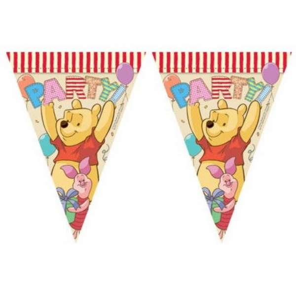 1 Wimpelgirlande Winnie the Pooh für eine tolle Kinderparty