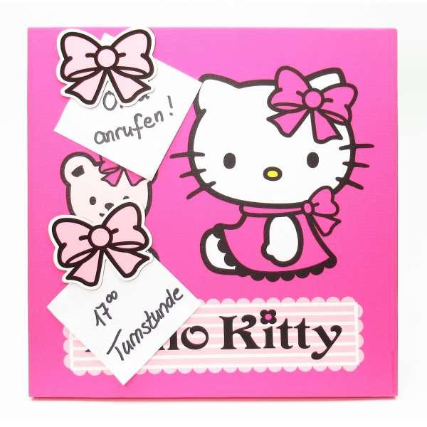 Hello Kitty Magnettafel 30x30 cm Pinnwand Memoboard Magnetpinnwand Bild