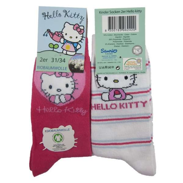 Hello Kitty 2er Pack Socken 23/26 27/30 31/34 Set1