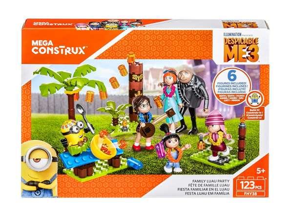 Mega Construx FHY38 Ich einfach unverbesserlich Family Luau Party mit 6 Figuren