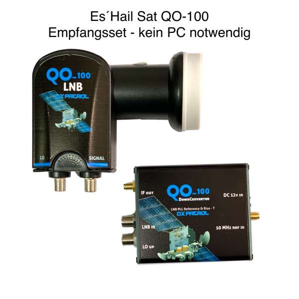 QO-100 Empfangsset - kein PC notwendig Downconverter & LNB