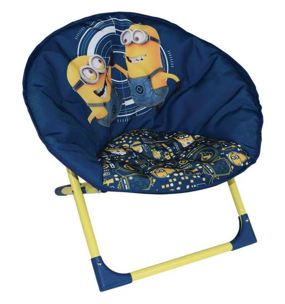 Minions Sessel Campingstuhl Klappstuhl Kindersessel Mondstuhl Moon Chair