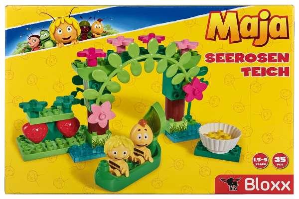 BIG 800057128 - BIG-Bloxx Biene Maja Seerosenteich Bausteine-Set ab 18 Monaten