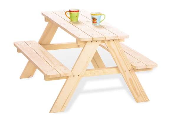 Pinolino Kindersitzgarnitur Nicki für 4 natur Kindermöbel Garten