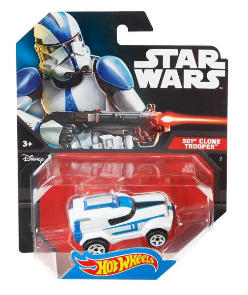 Hot Wheels Star Wars 501st Clone Trooper Character Car