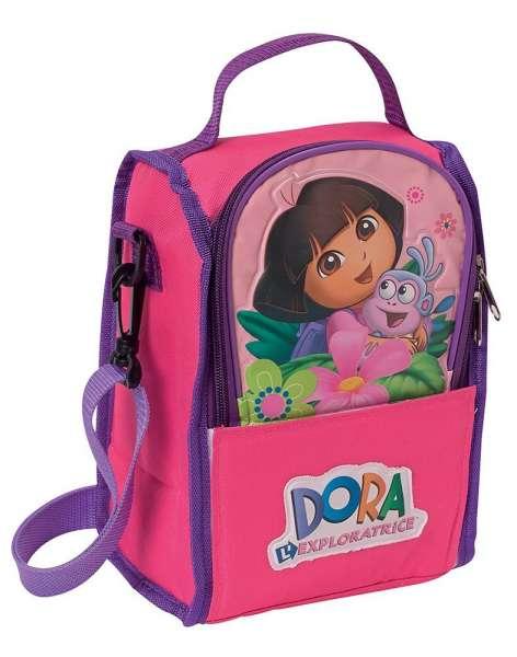 Nickelodeon Kühltasche Dora mit Schulterriemen und Flaschennetz