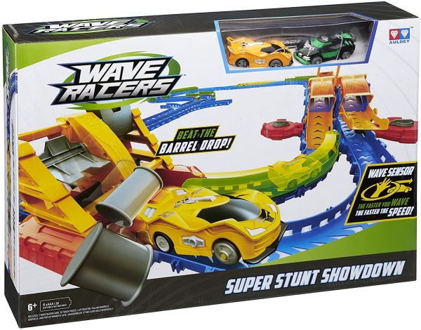 Wave Racers Super Stunt Showdown Track Set tolle Auto Rennbahn inkl. 2 Autos