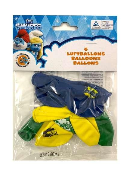 6 Luftballons Die Schlümpfe 2 für eine tolle Kinderparty