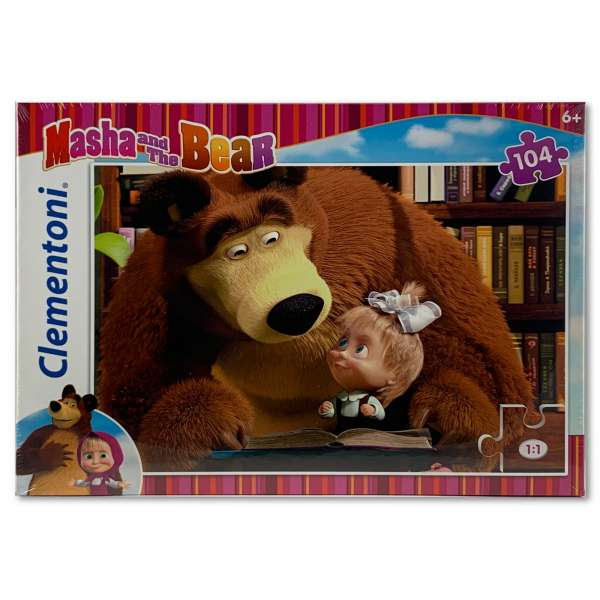 Clementoni Masha and the Bear Puzzle 104 Teile Super Color Mascha und der Bär 3