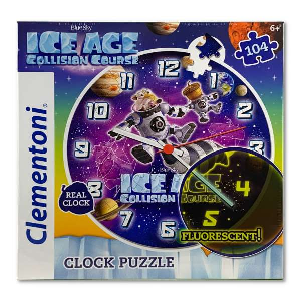 Clementoni Ice Age Puzzle Uhr Kinderuhr