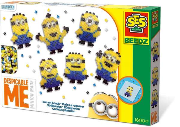 SES Creative 14743 Beedz Bügelperlen Minions basteln