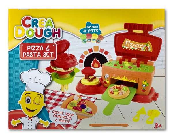 Crea Dough Pizza und Pasta großes Set mit Bachofen Knete Kinderknete