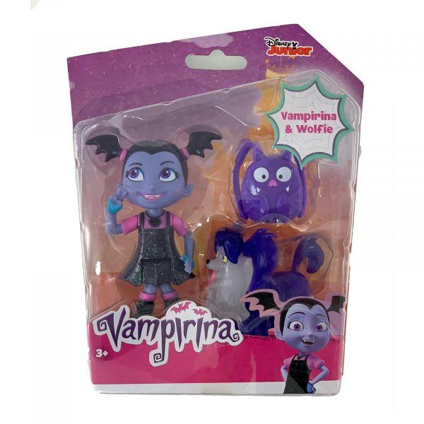 Disney Junior Vampirina und Wolfie Puppe mit Rucksack und Hund