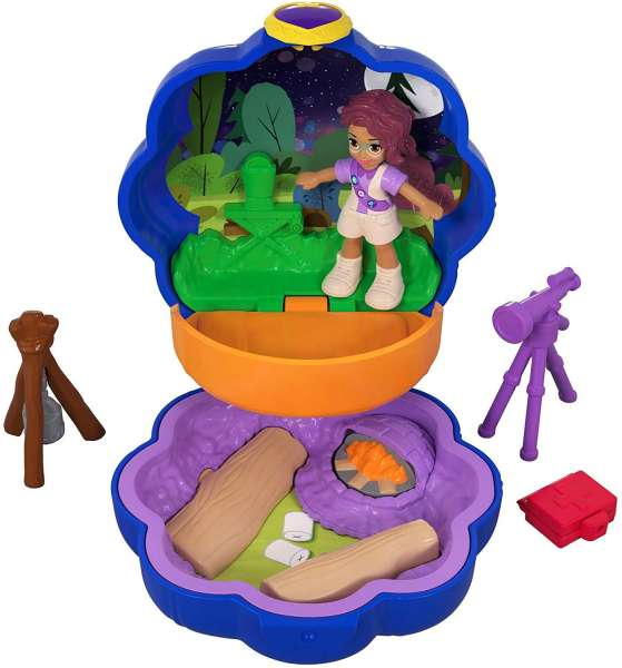Polly Pocket FWN40-Tiny Places Schatulle Shanis Camping