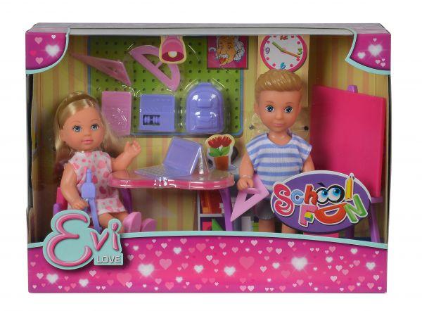 Simba 105733210 - Evi Love School Fun Spielset Schule mit 2 Puppen