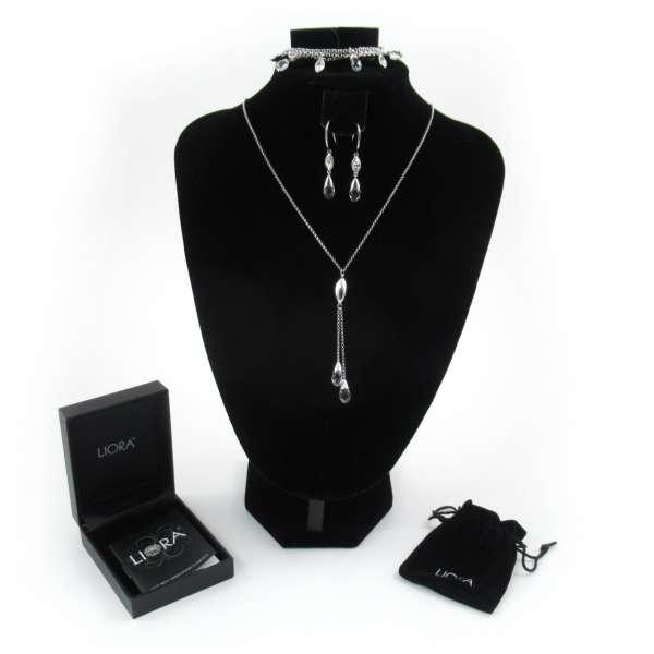 3er Set Liora Marquise Halskette, Armband, Ohrringe mit Swarovski Elementen