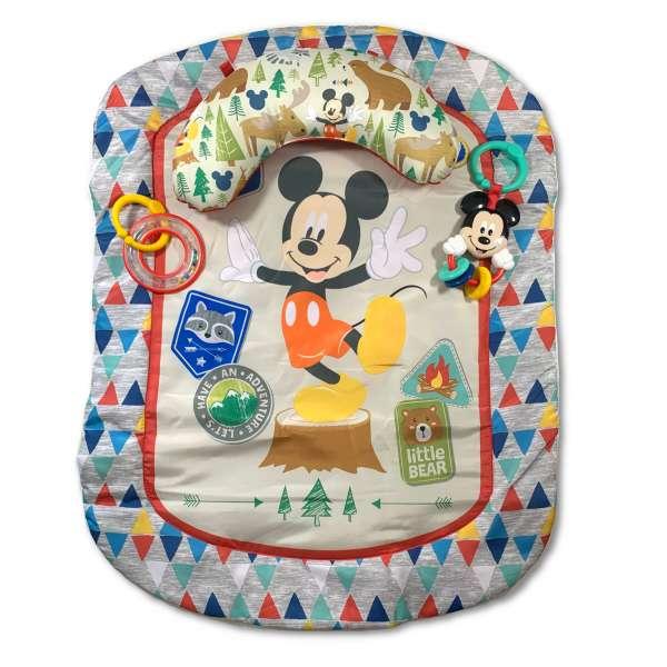 Bright Starts Mickey Mouse Spieldecke mit Stützkissen und Spielzeugen