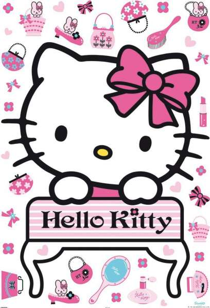 Sanrio Hello Kitty-Maxi Sticker, Wandaufkleber, Dekoration Kinderzimmer 41360