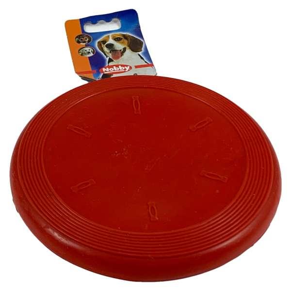 Nobby Frisbee aus Gummi für den Hund Hundespielzeug Rot
