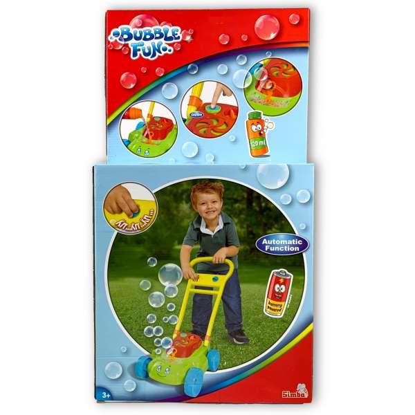 Simba 107282120 Bubble Fun Seifenblasen Rasenmäher macht Greäusche