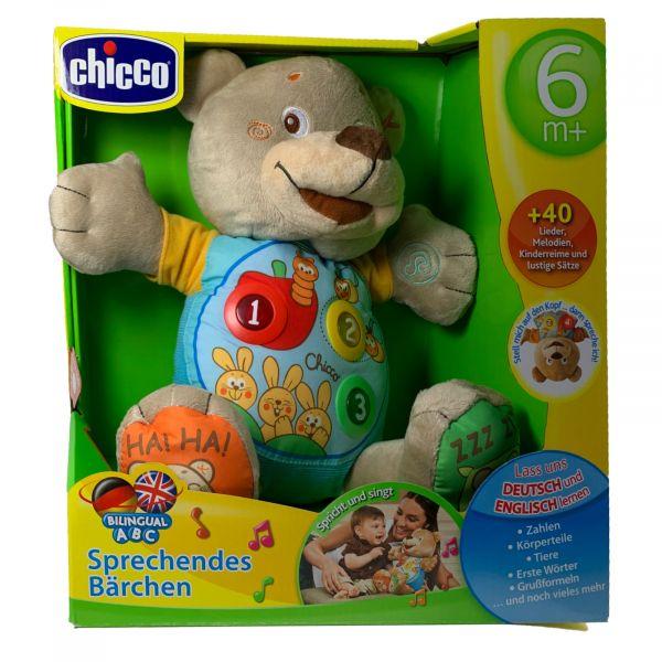 Chicco sprechender Bär Bilingual Lieder Sätze Zahlen Tiere Kinderreime uvm.