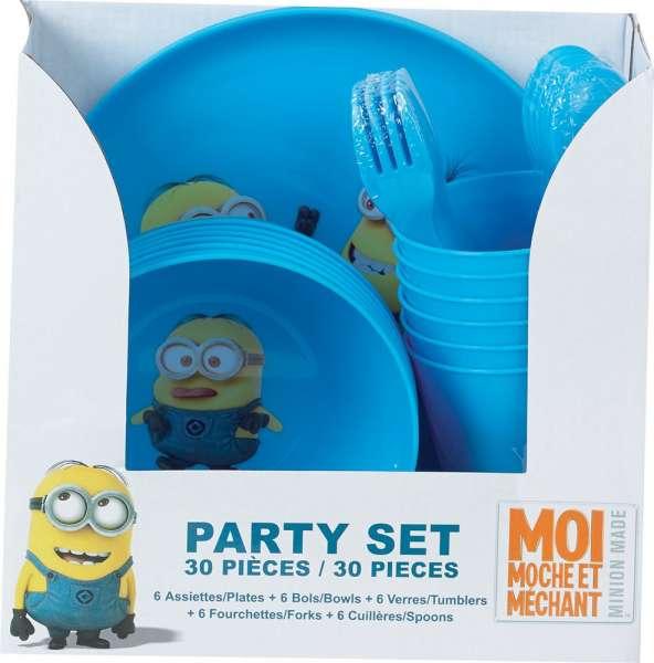 Tolles Minions Party Set 30 teilig mehrfach zu verwenden Kinderparty