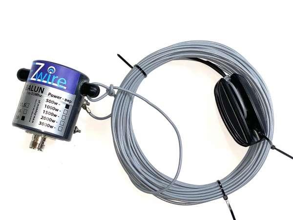 500 W 16,2m Multiband Dipol endgespeist 1:9 Balun EZwire 10m - 160m L:16,2M