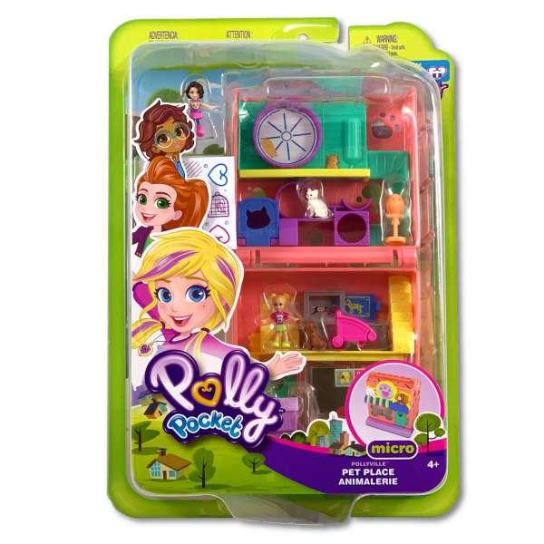 Polly Pocket Spielset Tierzentrum mit viel Zubehör