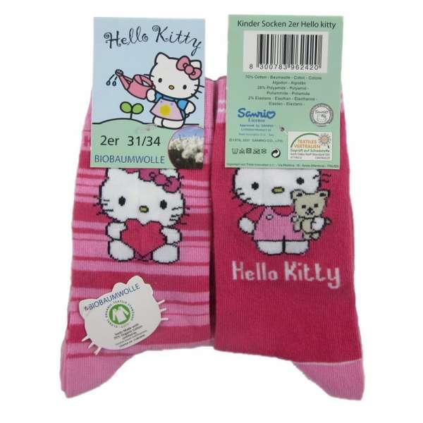 Hello Kitty 2er Pack Socken 23/26 27/30 31/34 Set2