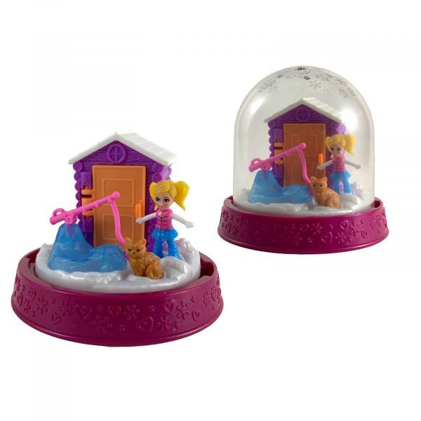 Polly-Pocket Mattel Mini - Kugel Polly beim Eisfischen