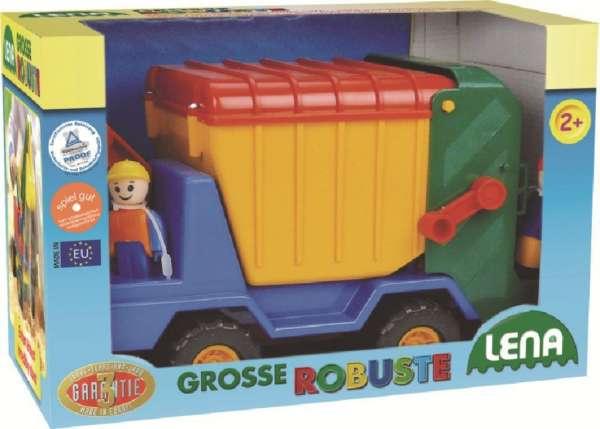 Lena 08656 - Große Robuste Müllwagen, ca. 31 cm Müll LKW ab 2 Jahren