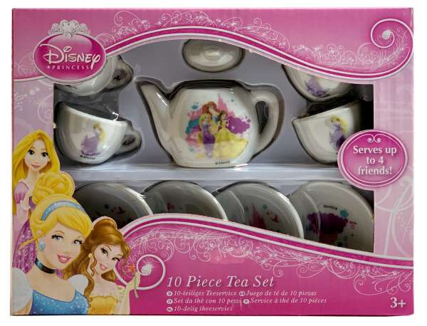 Disney 10-tlg Kinder Porzellan Teeservice Kaffeeservice Princess Prinzessin
