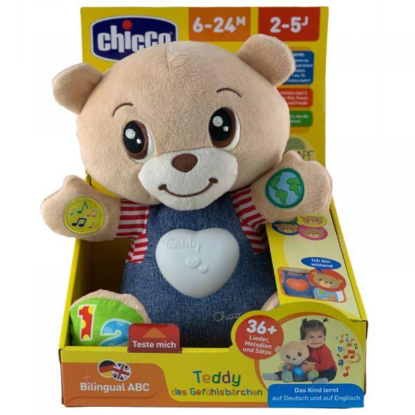 Chicco Teddy, das Gefühlsbärchen Bilingual Lieder Sätze Zahlen Buchstaben uvm.