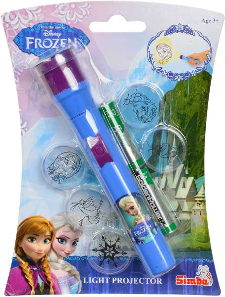 Frozen Light Projector Taschenlampe mit Anna und Elsa