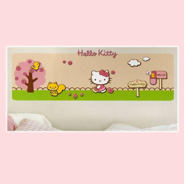 Hello Kitty interaktiv 3D Sticker 70-155 Wandsticker Wandtatto Kinderzimmer