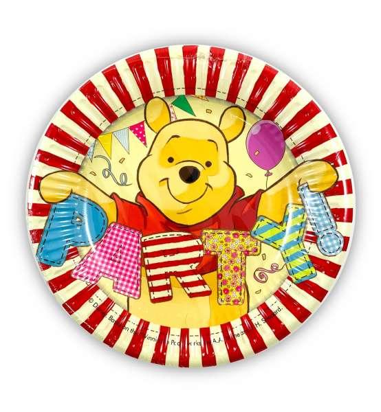 8 Pappteller Winnie the Pooh für eine tolle Kinderparty