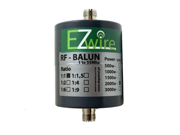 Mantelwellensperre 1 - 55 MHz 2KW EZwire 1:1 Balun