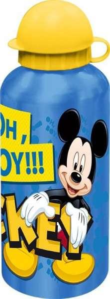 Disney Trinkflasche Aluminium 500ml Mickey Mouse Deckel gelb